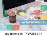 achieve result concept