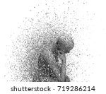 sadness and loneliness concept. ... | Shutterstock . vector #719286214