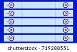 curling stadium top view.... | Shutterstock .eps vector #719288551