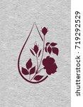 rose essential oil logo.... | Shutterstock .eps vector #719292529