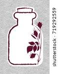 rose essential oil logo.... | Shutterstock .eps vector #719292559