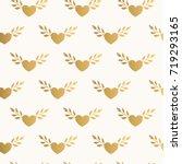 cute heart pattern | Shutterstock .eps vector #719293165