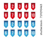 number set ribbon red and blue... | Shutterstock .eps vector #719293465