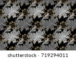 raster illustration. vintage... | Shutterstock . vector #719294011
