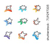 star signs with colorful...   Shutterstock .eps vector #719297335