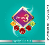 nutrition omega calcium and... | Shutterstock .eps vector #719298745