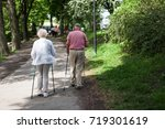 powerful happy elderly people... | Shutterstock . vector #719301619