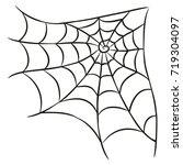 halloween black spider web... | Shutterstock .eps vector #719304097