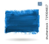 blue brush stroke and texture....   Shutterstock .eps vector #719304817
