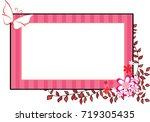 flower and butterfly card border   Shutterstock .eps vector #719305435