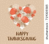 happy thanksgiving day greeting ... | Shutterstock .eps vector #719305585