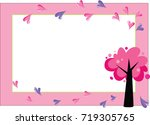 tree and heart shape blank...   Shutterstock .eps vector #719305765