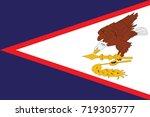 flag of american samoa . vector | Shutterstock .eps vector #719305777