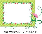 flower greeting card border   Shutterstock .eps vector #719306611