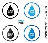waterproof icon vector... | Shutterstock .eps vector #719308801