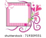 flowers with card border   Shutterstock .eps vector #719309551