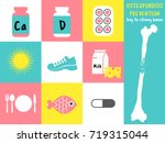 osteoporosis prevention icons... | Shutterstock .eps vector #719315044