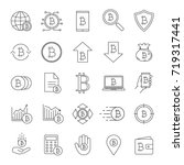 bitcoin linear icons set.... | Shutterstock .eps vector #719317441