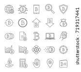 bitcoin linear icons set....   Shutterstock .eps vector #719317441