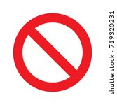 prohibition circle glyph icon....   Shutterstock .eps vector #719320231