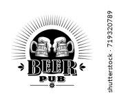 beer logo vector.   Shutterstock .eps vector #719320789