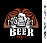 beer logo vector.   Shutterstock .eps vector #719320804