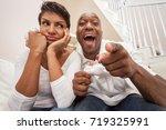 african american couple  man... | Shutterstock . vector #719325991