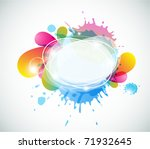 abstract colorful speech bubble ...