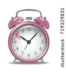 pink alarm clock with pink... | Shutterstock .eps vector #719329831