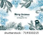 vintage design for christmas... | Shutterstock .eps vector #719333215