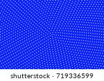 blue and yellow dotted halftone ... | Shutterstock .eps vector #719336599