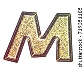 sparkling vintage printed... | Shutterstock . vector #719351185