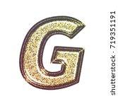 sparkling vintage printed... | Shutterstock . vector #719351191
