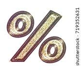 sparkling vintage printed... | Shutterstock . vector #719352631