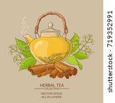 cinnamon tea illustration   Shutterstock .eps vector #719352991