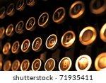 Antique Typewriter Keys Close...