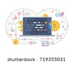 crypto currency and block chain | Shutterstock .eps vector #719355031