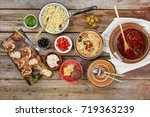 traditional italian vegetarian... | Shutterstock . vector #719363239