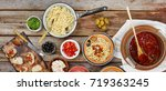 traditional italian vegetarian... | Shutterstock . vector #719363245