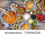 dinner  tanle. traditional... | Shutterstock . vector #719364229