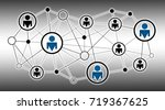 illustration of network and a... | Shutterstock . vector #719367625