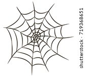 halloween black spider web... | Shutterstock .eps vector #719368651