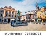 bright summer view of tartini... | Shutterstock . vector #719368735