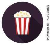 popcorn icon. illustration in... | Shutterstock .eps vector #719368801