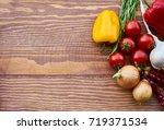eating healthy | Shutterstock . vector #719371534