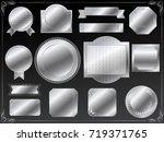 a set of various silver vector...   Shutterstock .eps vector #719371765