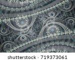 grey mechanical fractal ... | Shutterstock . vector #719373061