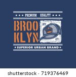 vintage urban typography with... | Shutterstock .eps vector #719376469