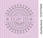 top 10 retro style pink emblem | Shutterstock .eps vector #719377069