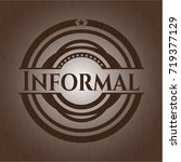 informal wooden emblem. vintage. | Shutterstock .eps vector #719377129